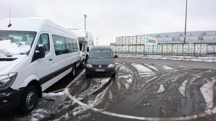 Am Hafen. Im Schnee.